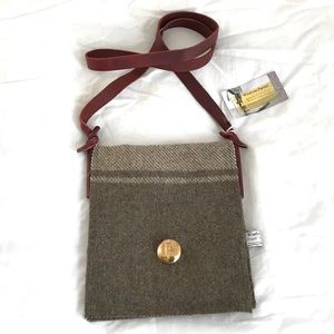 Recycled Wool Military Blanket Crossbody Purse